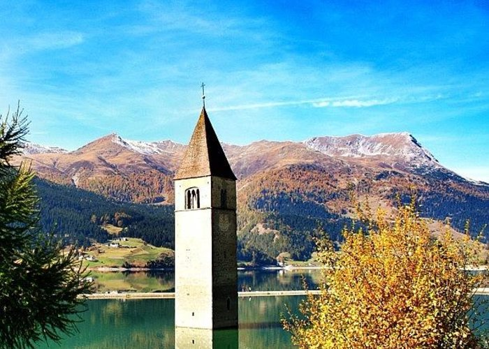 Outdoor Greeting Card featuring the photograph Lago Di Resia - Alto Adige. reshen by Luisa Azzolini