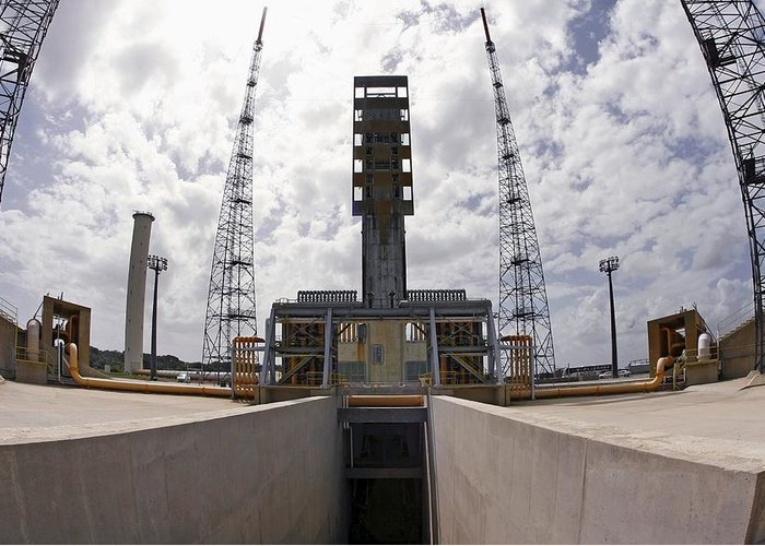 Ariane 5 Launch Pad Greeting Card featuring the photograph Launch Pad Assembly, Guiana Space Centre by Ria Novosti