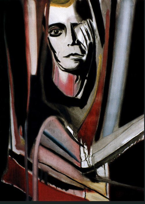Rock Greeting Card featuring the painting Lou Reed by Fabrice Plas