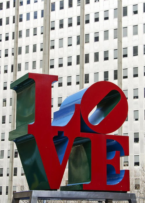love Park Greeting Card featuring the photograph Love Park - Center City - Philadelphia by Brendan Reals