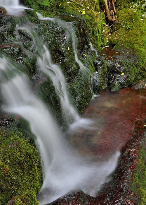 Waterfall Greeting Card featuring the photograph Lower Buttermilk Falls by Stephen Vecchiotti