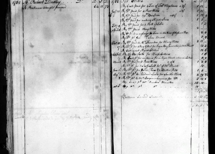 1762 Greeting Card featuring the photograph Madison: Account Book by Granger