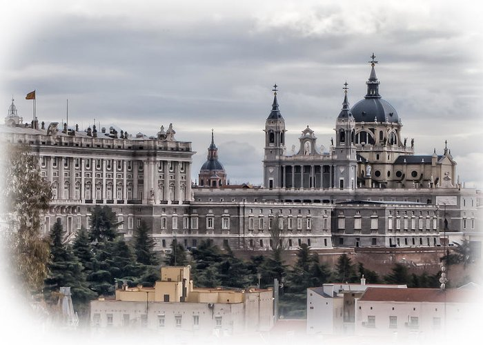 Greeting Card featuring the photograph Madrid by Michael Braxenthaler