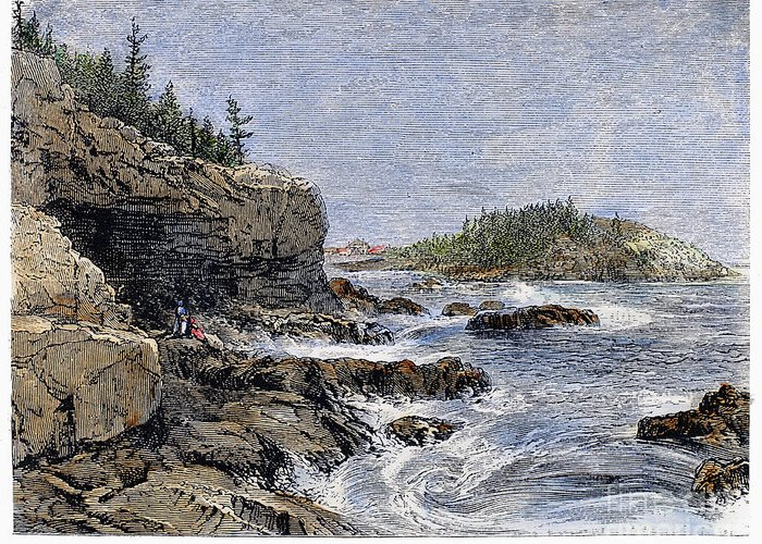 1875 Greeting Card featuring the photograph Maine: Mount Desert Island by Granger