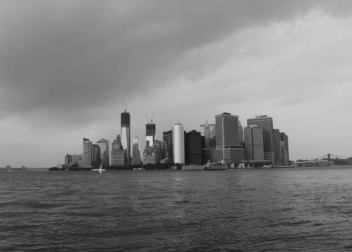 Manhattan Greeting Card featuring the photograph Manhattan by Nina Mirhabibi