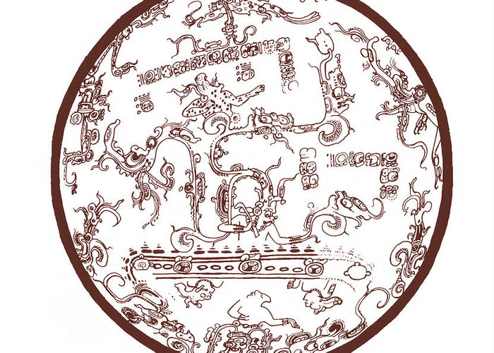 Historical Greeting Card featuring the photograph Mayan Cosmos by Science Source