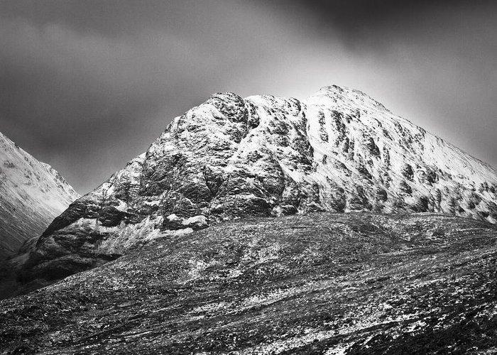 Britain Greeting Card featuring the photograph Meall Dearg Mountain At Glencoe Scotland by Gabor Pozsgai