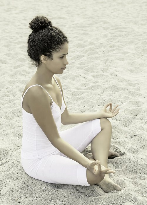 Female Greeting Card featuring the photograph Meditation by Joana Kruse