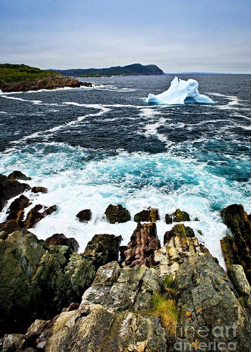 Iceberg Greeting Card featuring the photograph Melting Iceberg by Elena Elisseeva