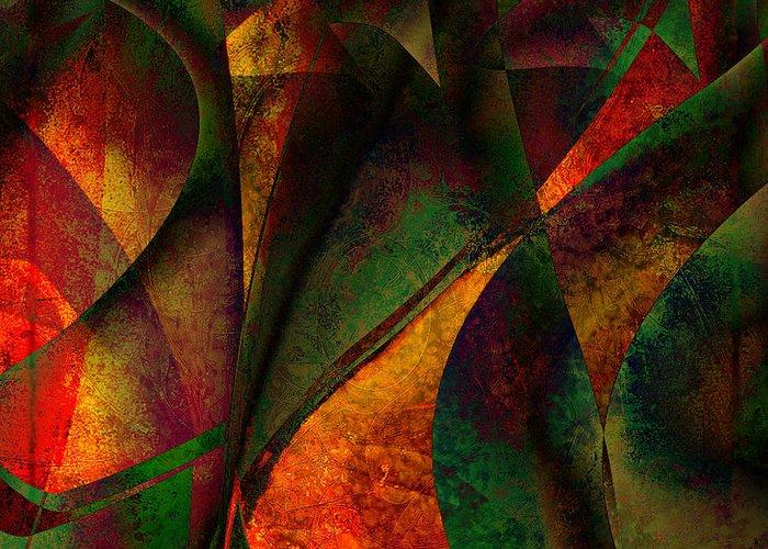 Digital Art Greeting Card featuring the digital art Merging by Amanda Moore