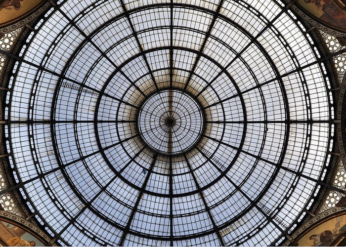 Glass Roof Greeting Card featuring the photograph Milan Galleria Vittorio Emanuele II by Joana Kruse