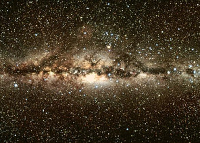 Astrophysics Greeting Card featuring the photograph Milky Way by Eckhard Slawik