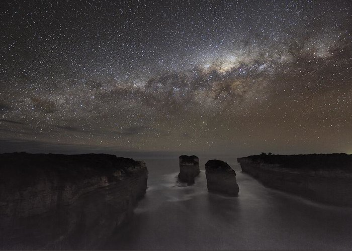 Milky Way Greeting Card featuring the photograph Milky Way Over Shipwreck Coast by Alex Cherney, Terrastro.com