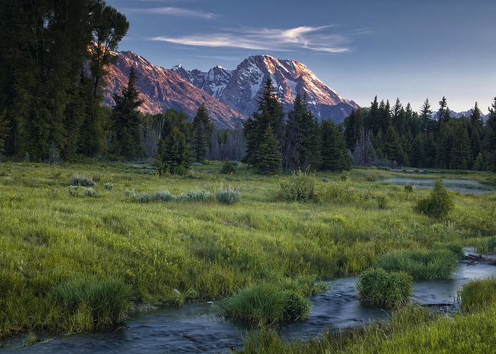 Stream Greeting Card featuring the photograph Mountain Stream by Andrew Soundarajan