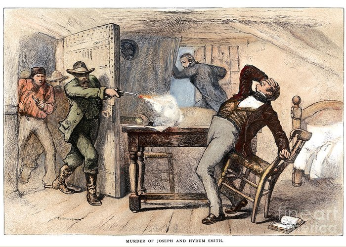 1844 Greeting Card featuring the photograph Murder Of Smith, 1844 by Granger