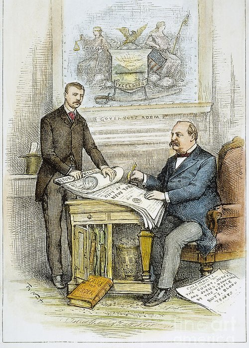 1884 Greeting Card featuring the photograph Nast: Civil Service Reform by Granger