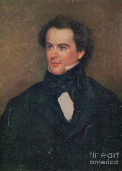 History Greeting Card featuring the photograph Nathaniel Hawthorne, American Author by Photo Researchers