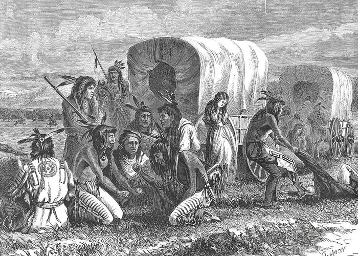 1870 Greeting Card featuring the photograph Native Americans: Gambling, 1870 by Granger