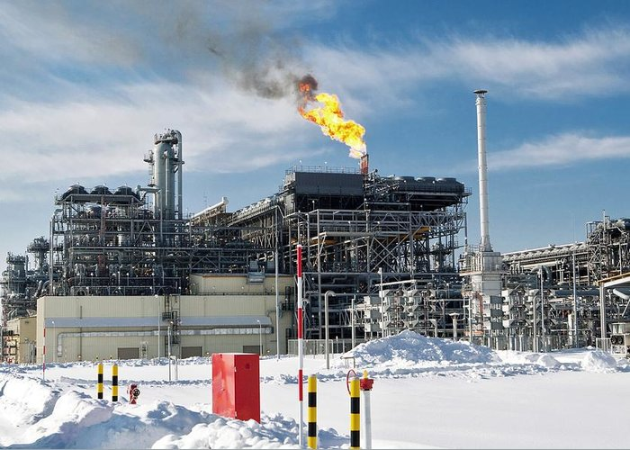 Natural Greeting Card featuring the photograph Natural Gas Liquefaction Plant by Ria Novosti