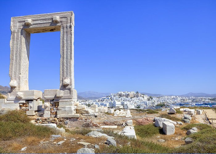 Naxos Greeting Card featuring the photograph Naxos - Cyclades - Greece by Joana Kruse