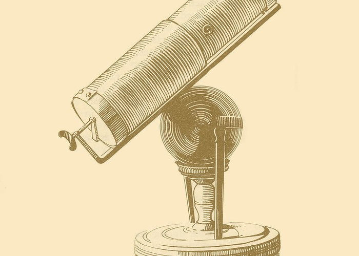 17th Century Greeting Card featuring the photograph Newtons Little Reflector by Science Source