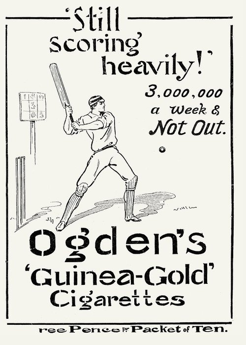 1897 Greeting Card featuring the photograph Ogdens Cigarettes, 1897 by Granger