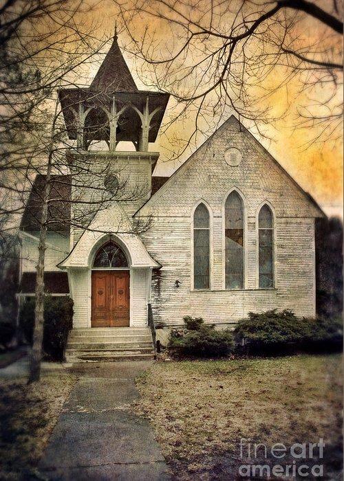 Church Greeting Card featuring the photograph Old Church by Jill Battaglia