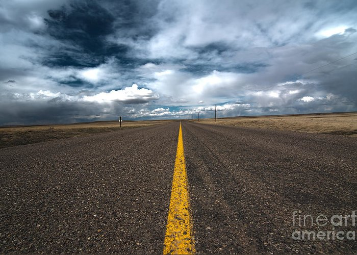 Scenic Drive Greeting Card featuring the photograph Open Highway by Arjuna Kodisinghe