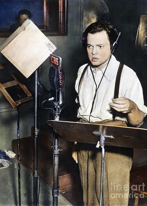 1938 Greeting Card featuring the photograph Orson Welles (1915-1985) by Granger