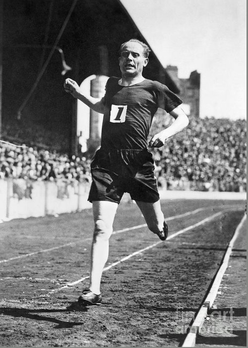 1931 Greeting Card featuring the photograph Paavo Nurmi (1897-1973) by Granger