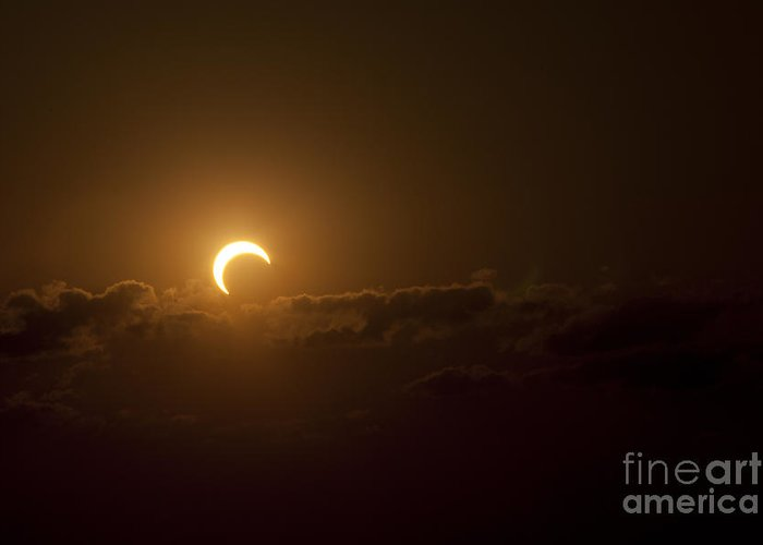 Natural Phenomenon Greeting Card featuring the photograph Partial Solar Eclipse by Phillip Jones