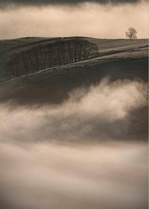 Peak District Greeting Card featuring the photograph Peak District Landscape by Andy Astbury