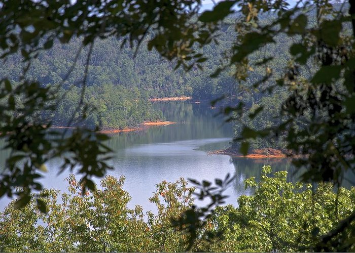 Nature Greeting Card featuring the photograph Peekaboo Lake by Al Cash