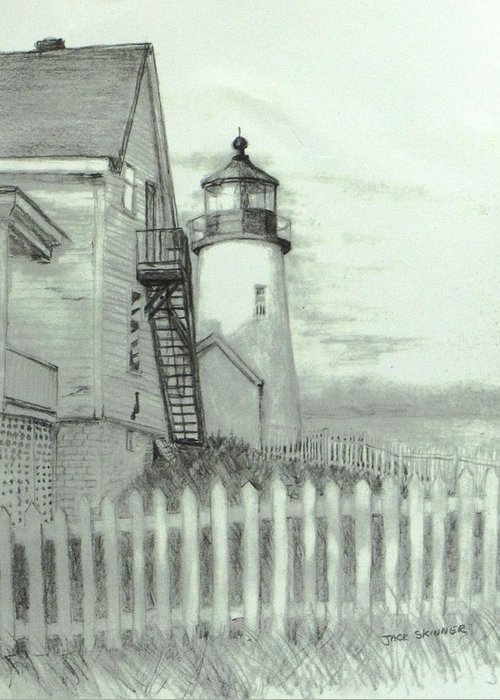 Pemaquid Lighthouse Drawings Greeting Cards
