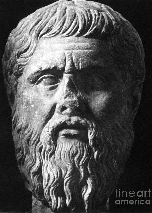 4th Century B.c Greeting Card featuring the photograph Plato (c427 B.c.-c347 B.c.) by Granger