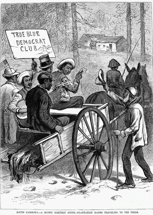 1876 Greeting Card featuring the photograph Presidential Campaign, 1876 by Granger