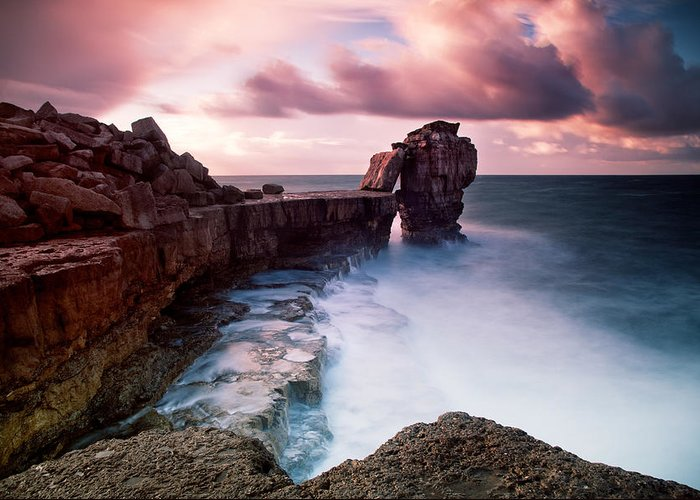 Pulpit Greeting Card featuring the photograph Pulpit Rock by Nina Papiorek