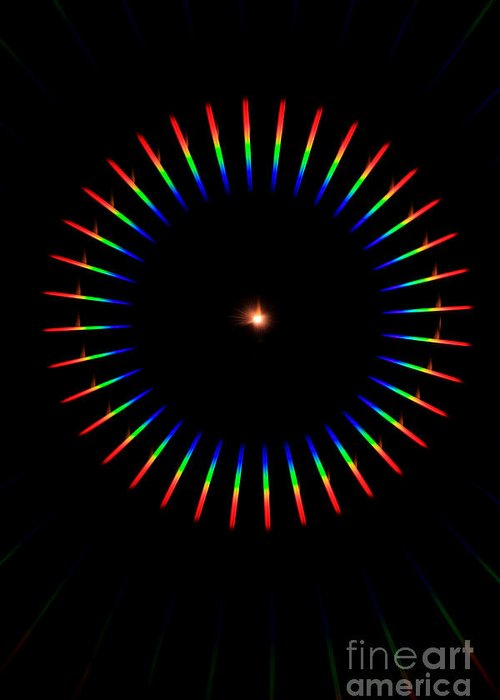 Science Greeting Card featuring the Quicklime Spectra Limelight by Ted Kinsman