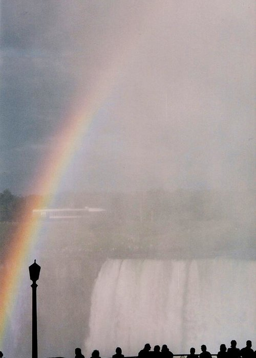 Waterfall Greeting Card featuring the photograph Rainbow Falls by Pharris Art