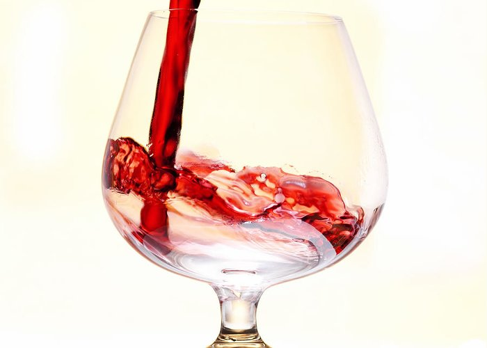 Glass Greeting Card featuring the photograph Red Wine by Michal Boubin