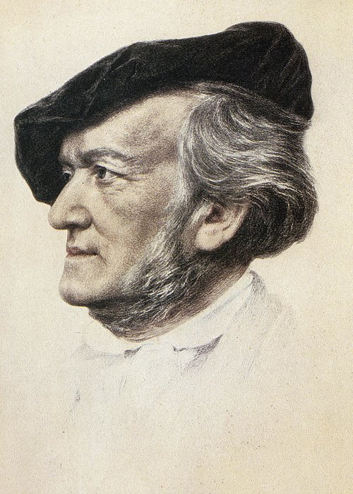 1871 Greeting Card featuring the photograph Richard Wagner (1813-1883) by Granger