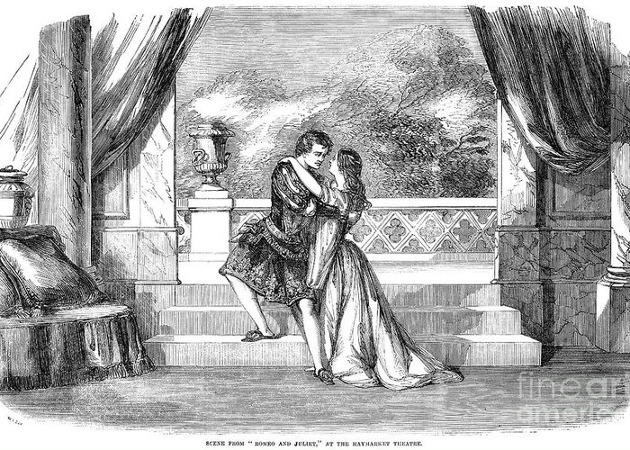 1855 Greeting Card featuring the photograph Romeo & Juliet by Granger