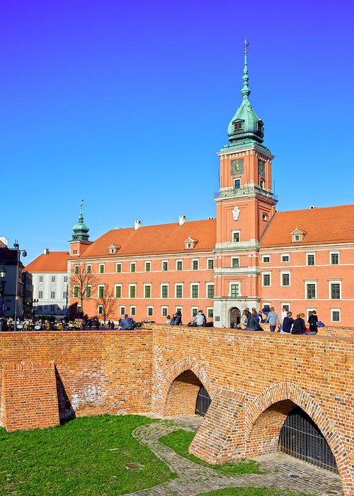 Warsaw Greeting Card featuring the photograph Royal Castle In Warsaw by Artur Bogacki
