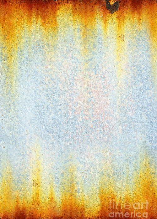 Abstract Greeting Card featuring the photograph Rusty Background by Carlos Caetano