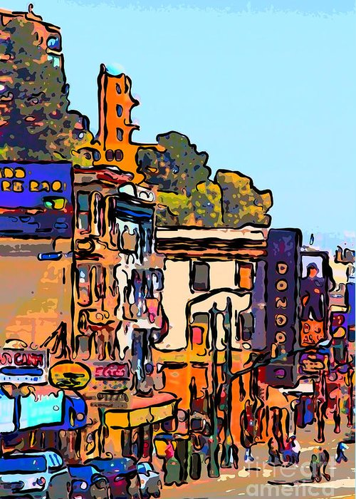 San Francisco Greeting Card featuring the photograph San Francisco Broadway by Wingsdomain Art and Photography