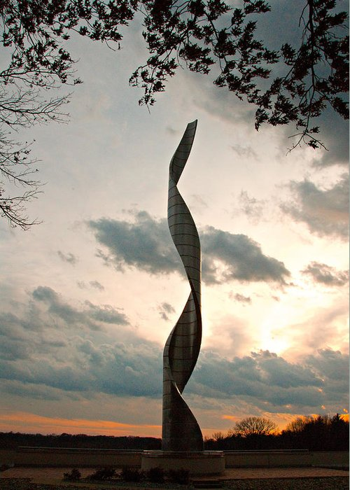 Sculpture Greeting Card featuring the photograph Sculpture At Our Lady Of The Snows by Cindy Tiefenbrunn