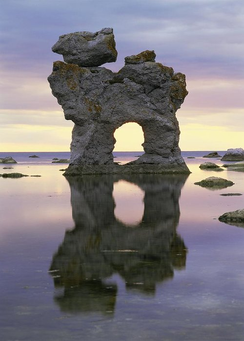 Stone Greeting Card featuring the photograph Sea Arch by Bjorn Svensson