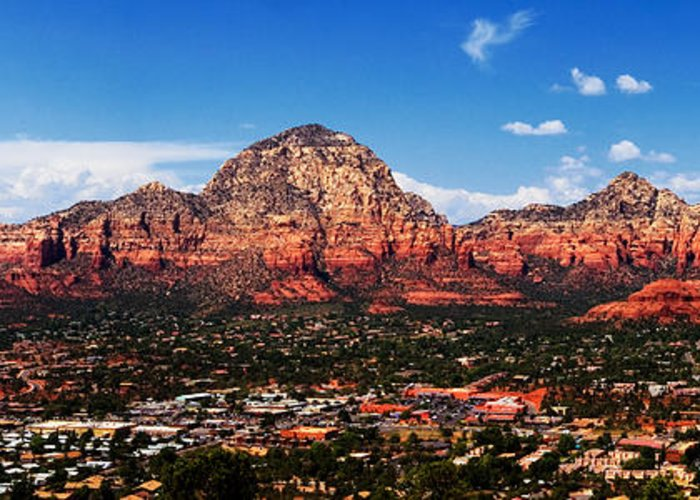 Mountains In Sedona Greeting Cards