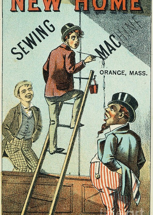 1880s Greeting Card featuring the photograph Sewing Machine Trade Card by Granger