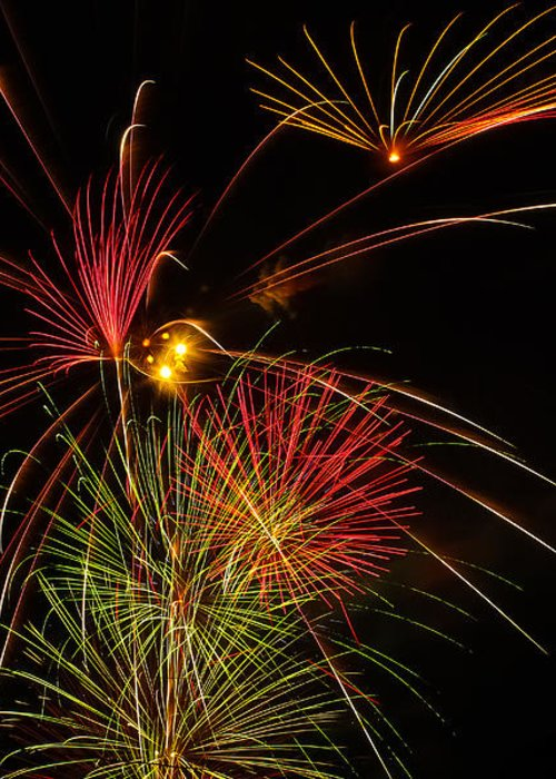 4th Of July Greeting Card featuring the photograph Sky Flowers by Joshua Dwyer